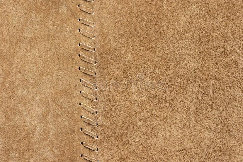 自然绒面革纹理 免版税库存图片