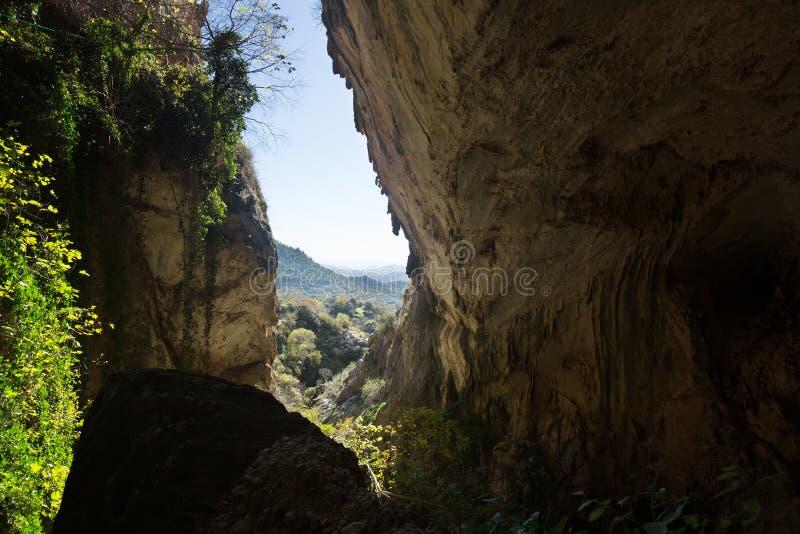 自然洞穴 图库摄影