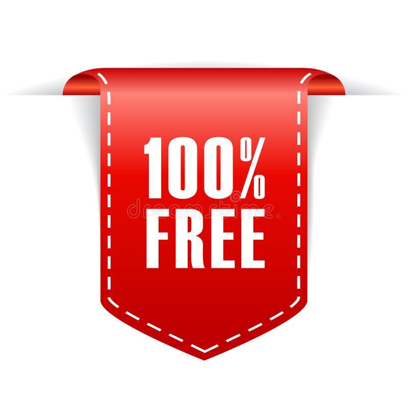 100自由丝带 库存例证