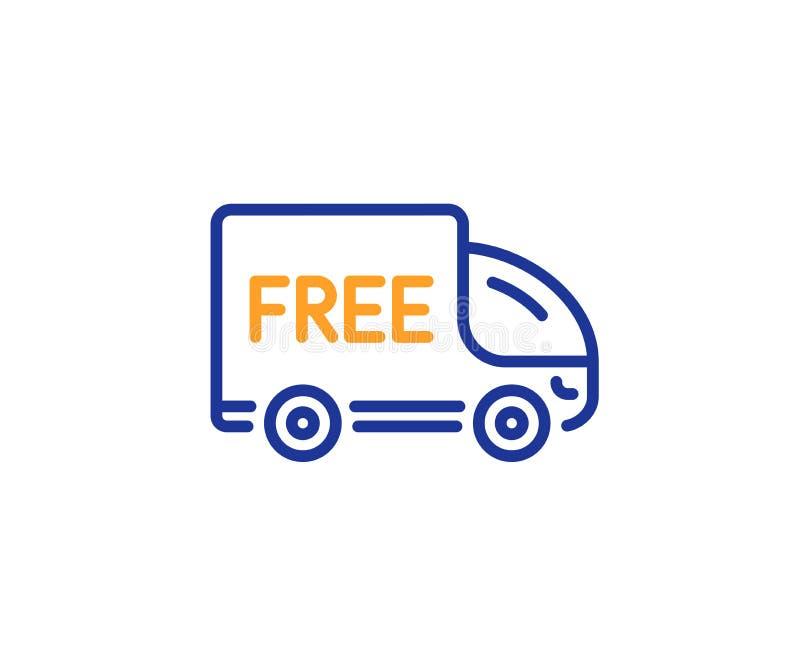 自由交货行象 购物卡车标志 向量 库存例证