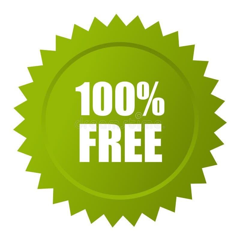 100自由传染媒介象 向量例证