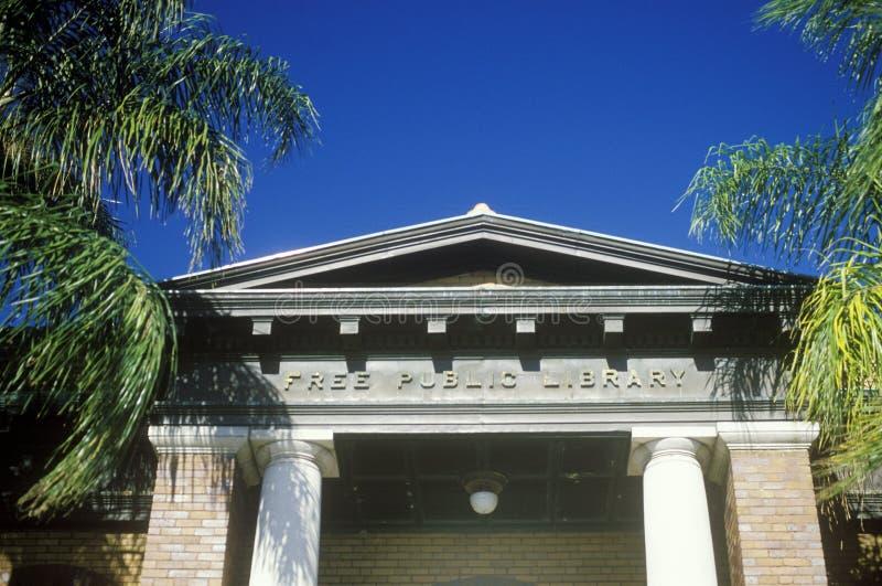 自由公立图书馆,坦帕, FL 库存图片