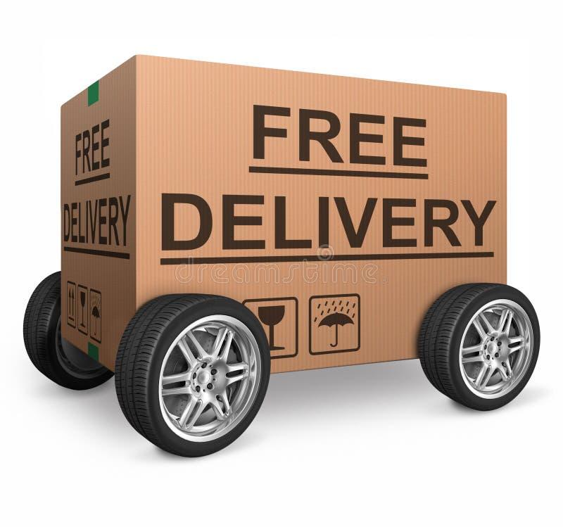自由发运纸板箱 向量例证