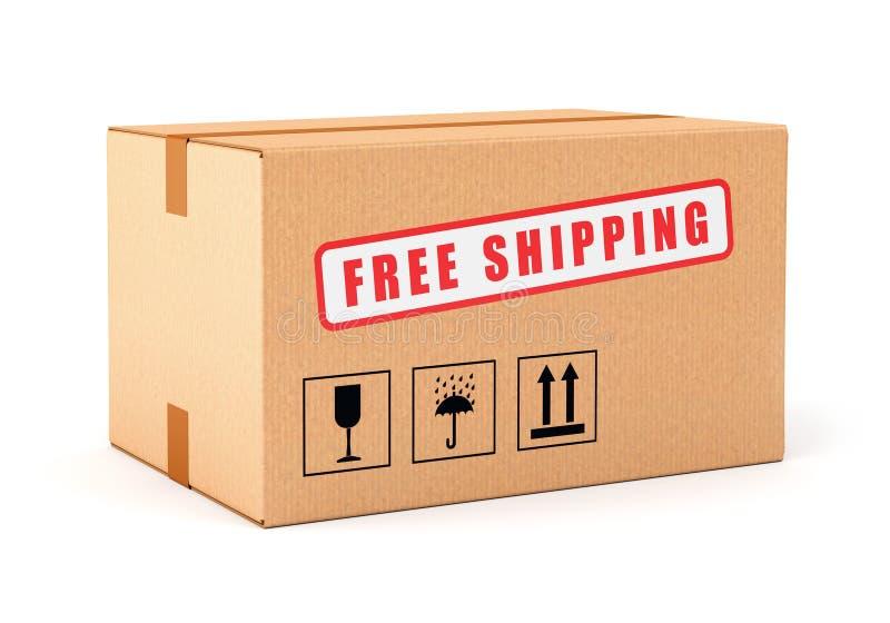 自由发运纸板箱 皇族释放例证