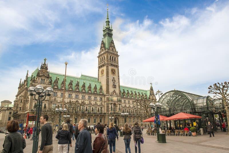 汉堡城镇厅 免版税库存图片