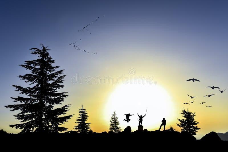 自由和平和自然 库存图片