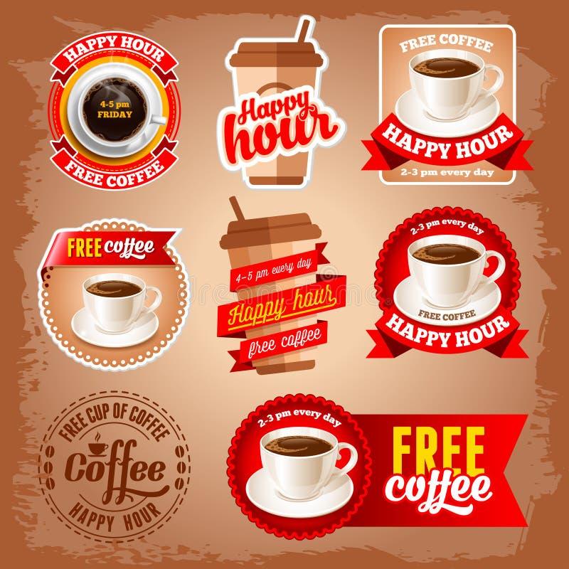 自由咖啡标签 皇族释放例证