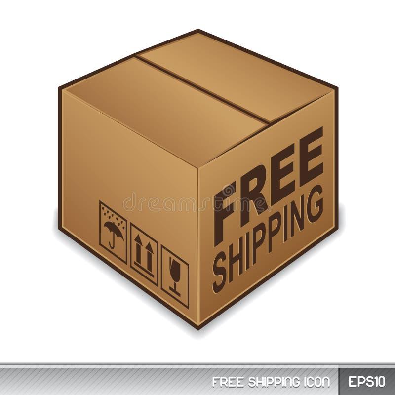 自由图标发运 库存例证