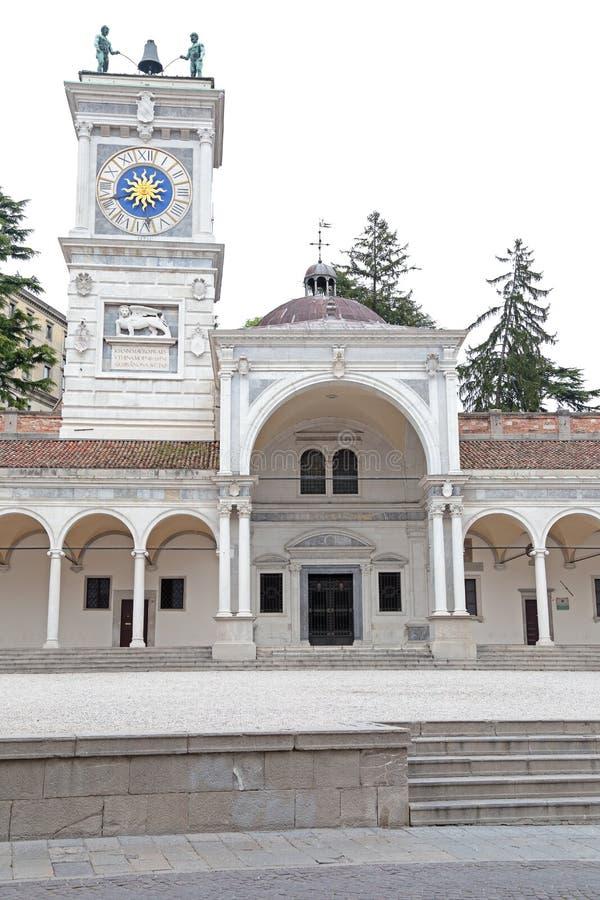 自由地方在乌迪内,意大利 库存图片