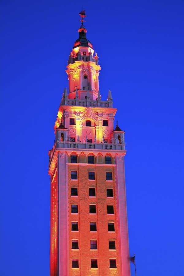 自由塔在迈阿密 库存照片