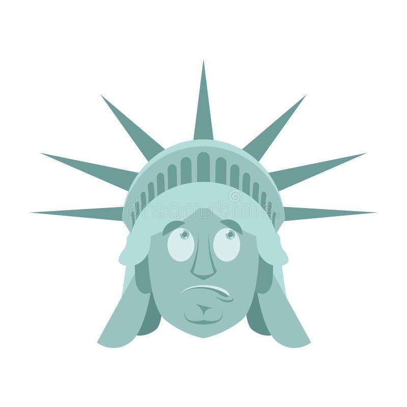 自由女神像使Emoji惊奇 美国地标雕象面孔罪状 皇族释放例证