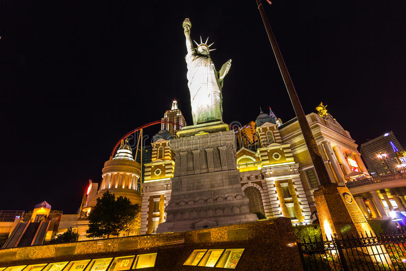 自由女神像在拉斯维加斯,美国 免版税库存照片
