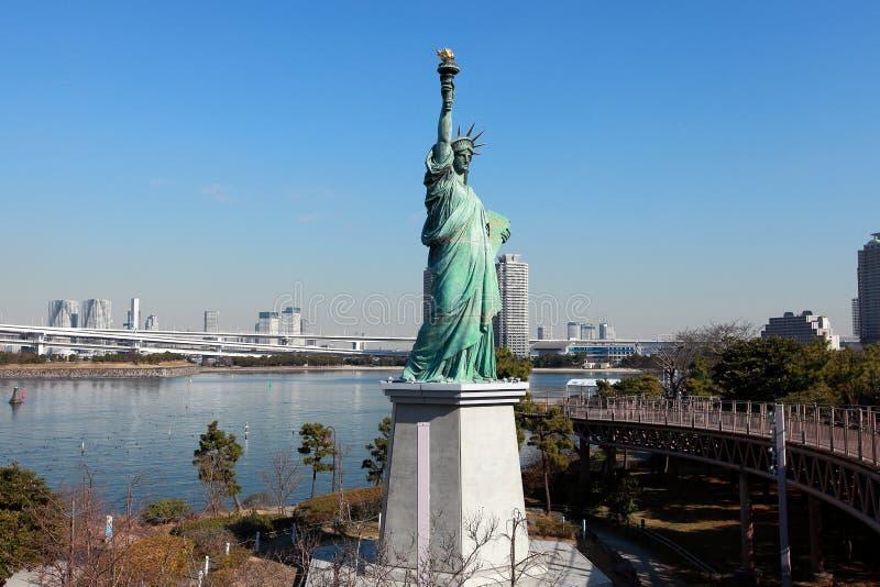 自由女神像在日本的东京 库存照片