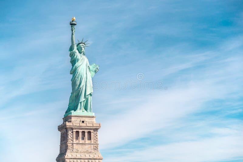 自由女神像在纽约,纽约地标  免版税库存图片