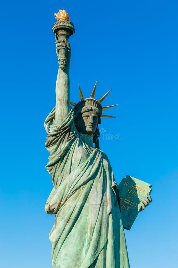 自由女神像在Odaiba地区,东京 库存图片