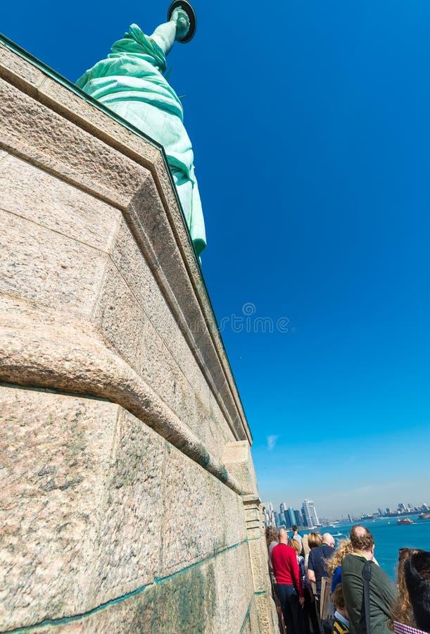 自由女神像基地的游人  库存照片