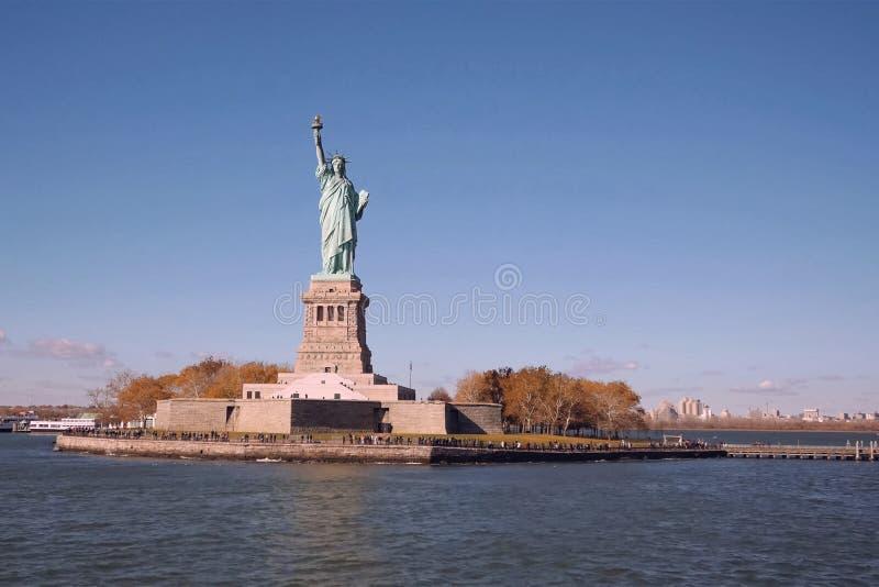 自由女神像是美国的标志 自由的人员 自由的标志 库存照片