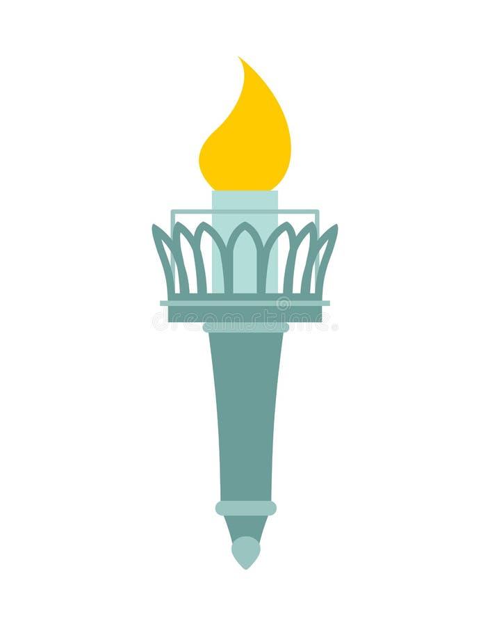 自由女神像火炬  船的灯塔 辅助monu 库存例证