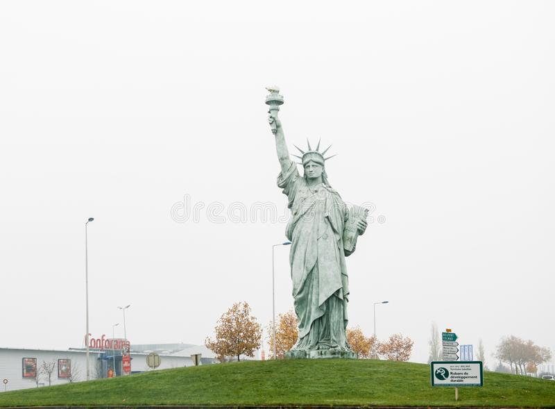 自由女神像的拷贝由Auguste Bartholdi做了 免版税图库摄影