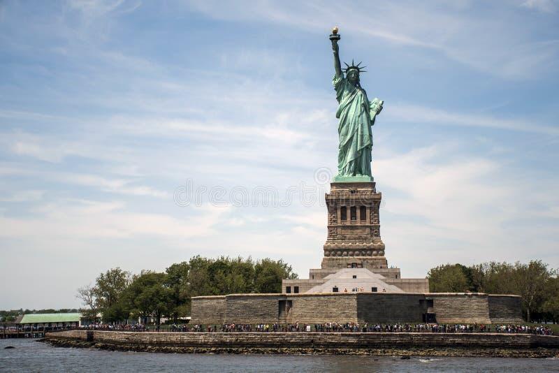 自由女神像纽约地平线纪念碑5 免版税库存照片