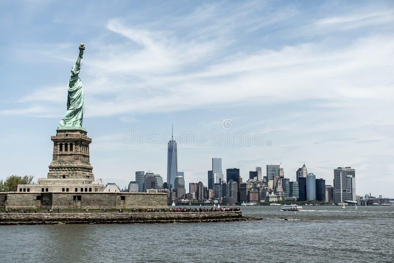 自由女神像纽约地平线纪念碑 免版税图库摄影