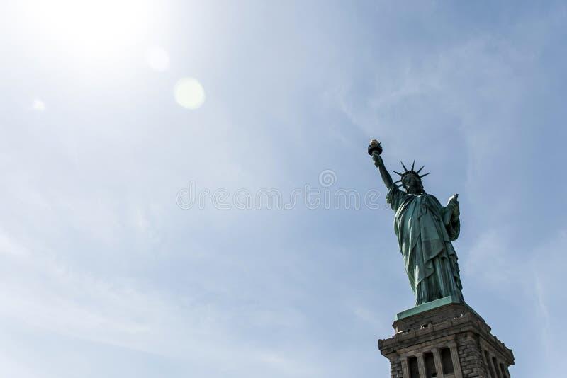 自由女神像纽约地平线纪念碑 库存图片