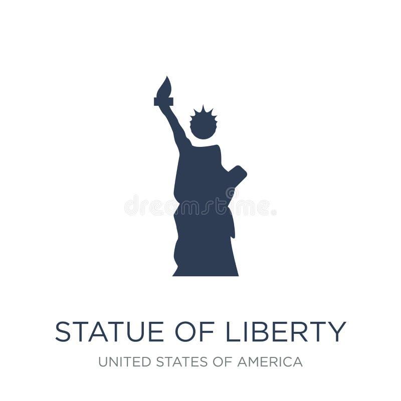 自由女神像象 时髦平的传染媒介自由女神像ico 向量例证