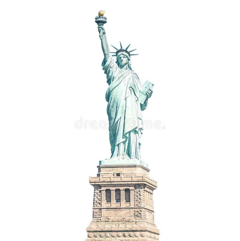 自由女神像,纽约地标,隔绝与裁减路线 免版税库存图片