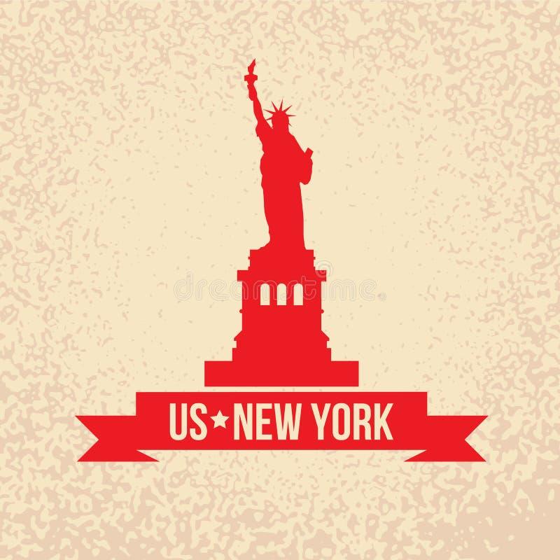 自由女神像-美国,纽约的标志 皇族释放例证