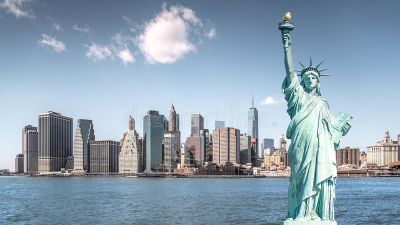 自由女神象,纽约地标  免版税图库摄影