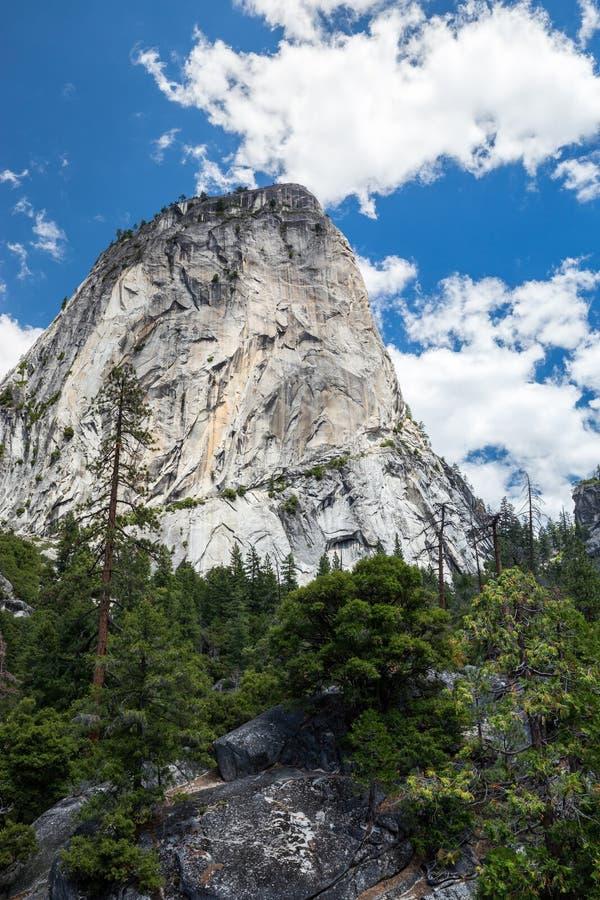 自由帽在优胜美地国家公园,加利福尼亚,美国 图库摄影