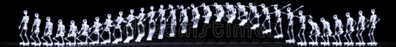 自由式人力跳的概要X-射线 图库摄影