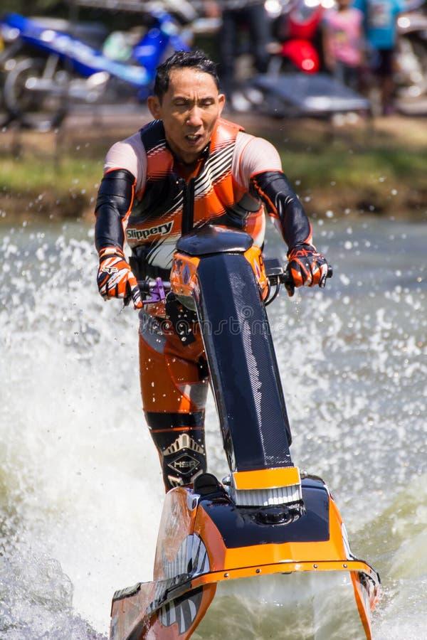 自由式喷气机滑雪特技活动 库存照片