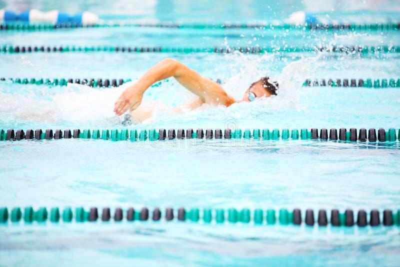 自由式游泳者 免版税库存照片