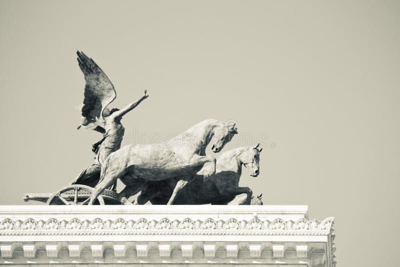 自由意大利人雕象 免版税库存照片