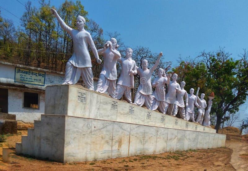 自由战士雕象 库存照片