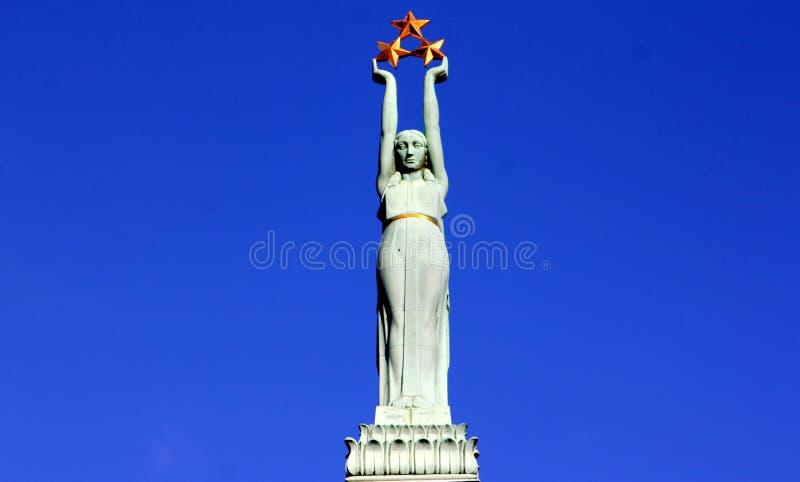 自由拉脱维亚纪念碑里加 库存照片