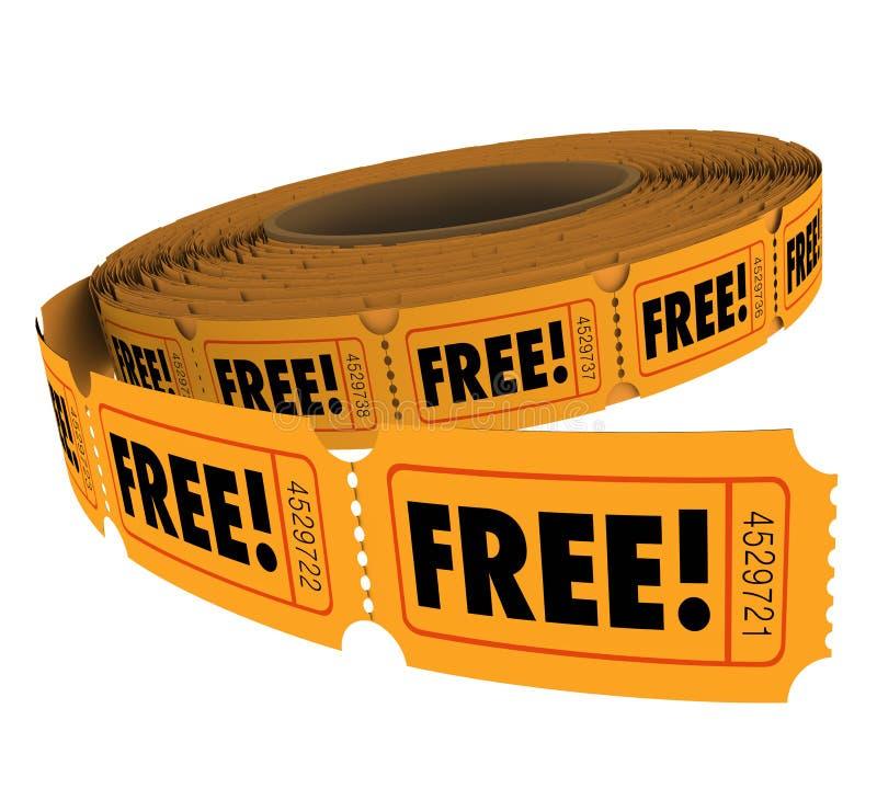 自由招待券卷进入胜利比赛废物没有充电 向量例证
