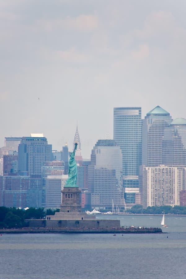 自由新的地平线雕象约克 免版税库存照片