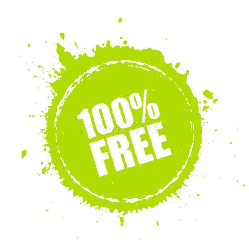 100自由油漆飞溅传染媒介象 库存例证