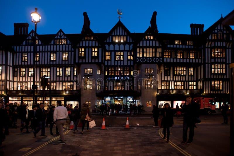 自由百货商店在伦敦 图库摄影