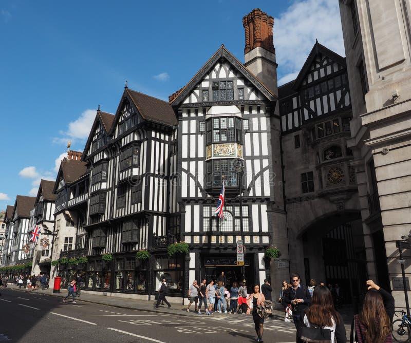 自由百货商店在伦敦 免版税库存照片