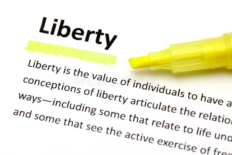 自由的定义 免版税图库摄影