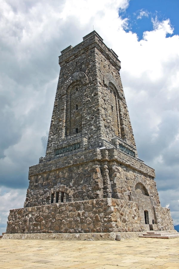 自由的纪念碑在希普卡通行证的在保加利亚 库存照片