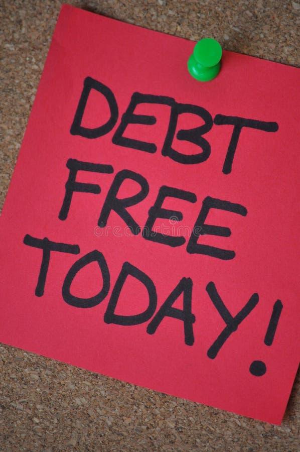 自由的负债今天 免版税库存照片