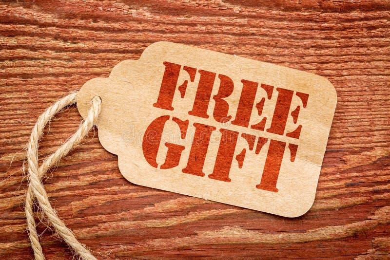自由礼物标志-纸价牌 库存照片