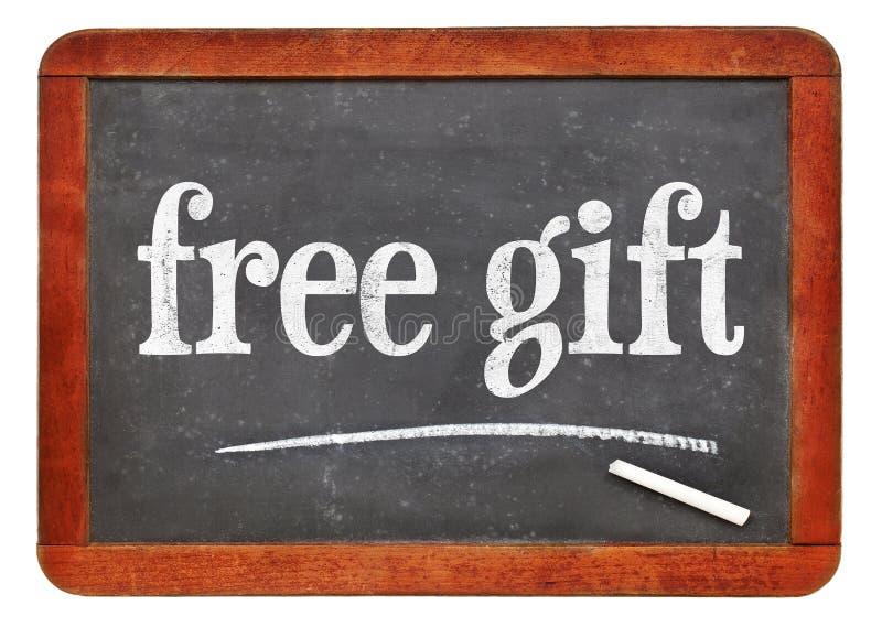 自由礼物黑板标志 库存图片