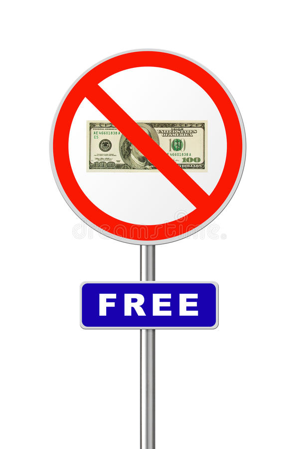 自由符号 免版税库存照片