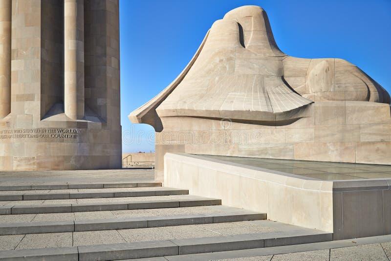 自由纪念战争博物馆坎萨斯城 免版税库存图片