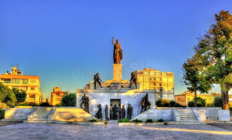 自由纪念碑在尼科西亚 免版税库存图片